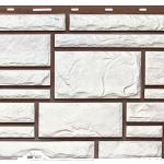 цокольная панель дикий камень белый